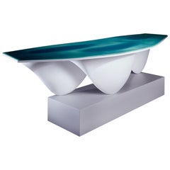 Aqua Table Limited Edition-White with Turquoise Top