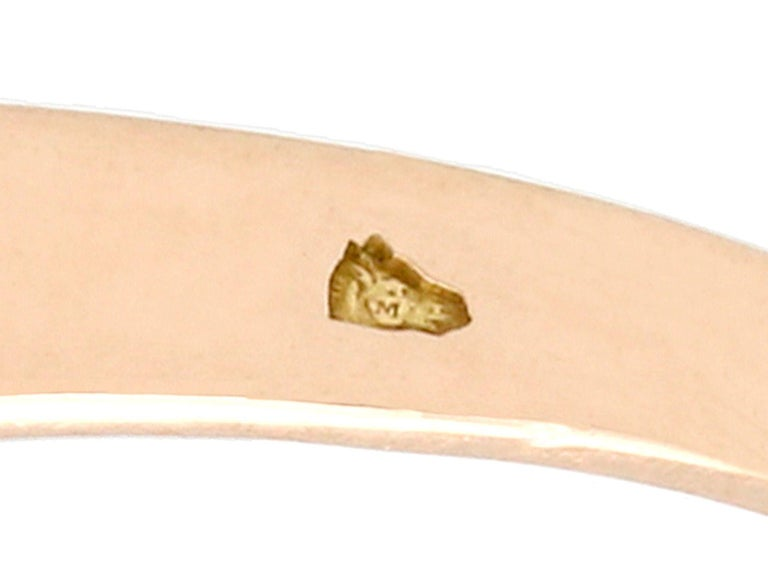 Women's Antique Aquamarine and Diamond Yellow Gold Twist Ring, Circa 1900 For Sale
