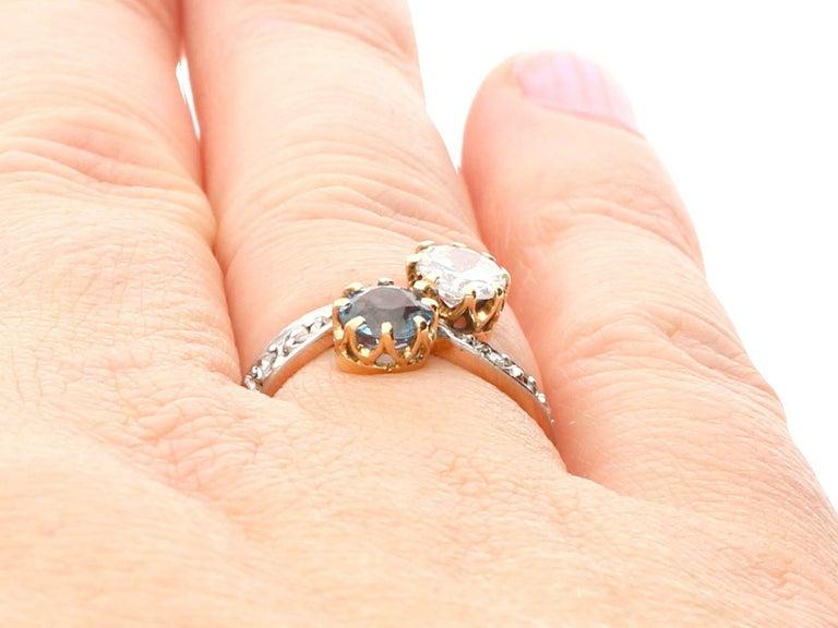 Antique Aquamarine and Diamond Yellow Gold Twist Ring, Circa 1900 For Sale 3