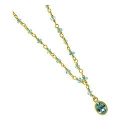 Aquamarine and Gold Necklace