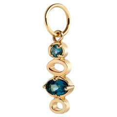 Aquamarine and London Blue Topaz Charm
