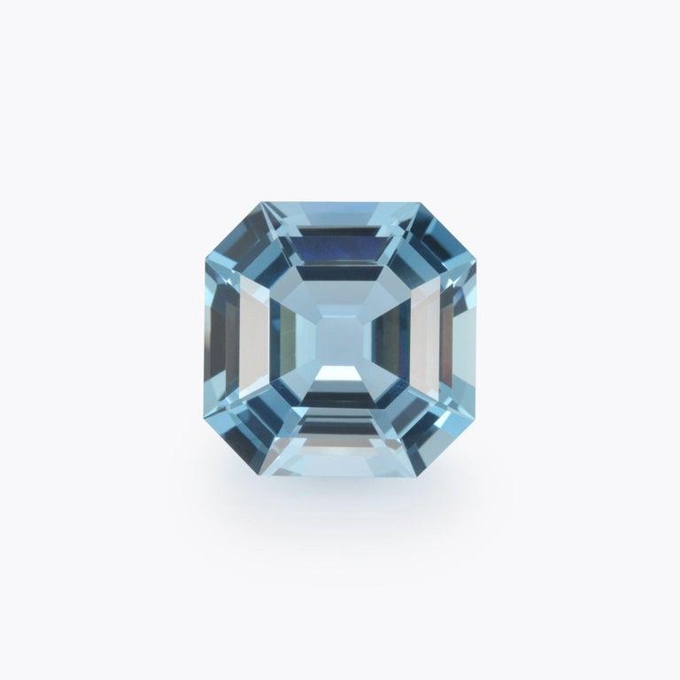Modern Aquamarine Asscher Cut 35.68 Carat Gem For Sale