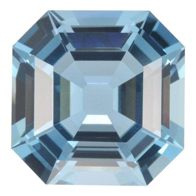 Aquamarine Asscher Cut 35.68 Carat Gem For Sale