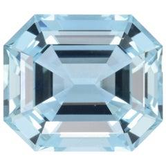 Aquamarine Ring Gem 11.25 Carat Emerald Cut