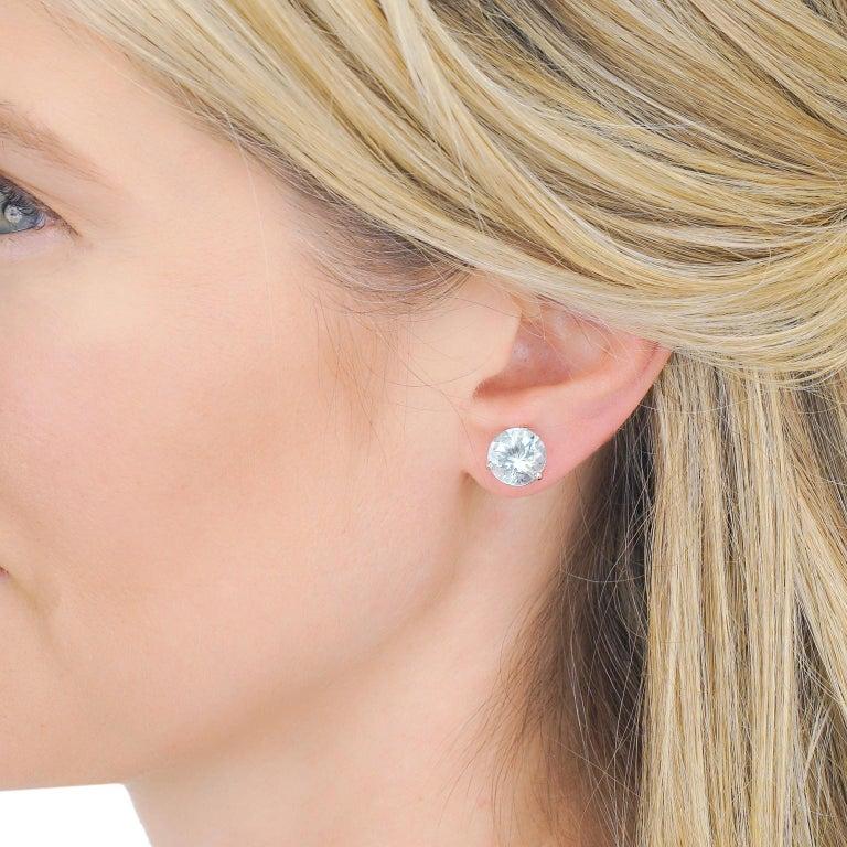 Women's or Men's Aquamarine Gold Set Earrings For Sale