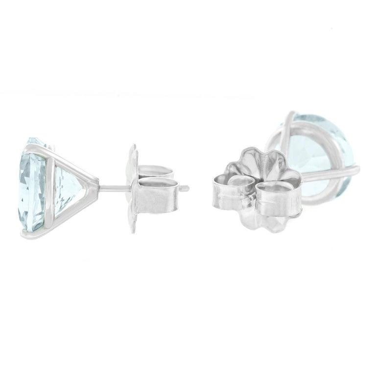 Aquamarine Gold Set Earrings For Sale 3