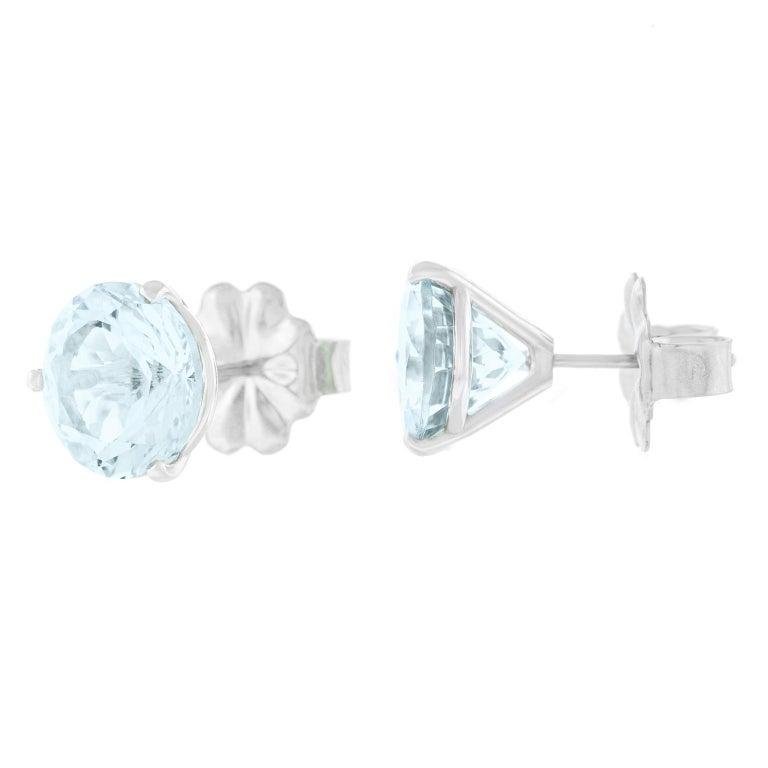 Aquamarine Gold Set Earrings For Sale 4