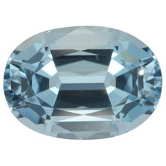 Aquamarine Ring Gem 5.00 Carat Oval