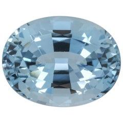 Aquamarine Ring Gem 5.04 Carat Oval