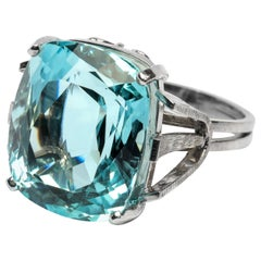 Aquamarine Ring from Midcentury