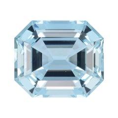 Aquamarine Ring Gem 11.25 Carat Emerald Cut Loose Unset Gemstone