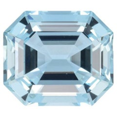 Aquamarine Ring Gem 11.25 Carat Emerald Cut Loose Gemstone