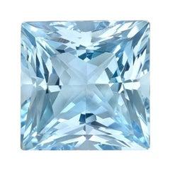 Aquamarine Ring Gem 21.71 Carat Princess Cut Loose Gemstone
