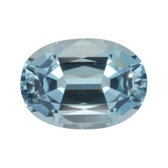 Aquamarine Ring Gem 5.00 Carat Oval Loose Gemstone