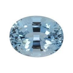 Aquamarine Ring Gem 5.04 Carat Oval Loose Gemstone