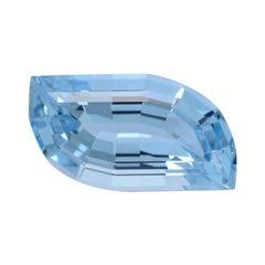 Aquamarine Ring Gem 5.35 Carat Leaf Shape Loose Gemstone