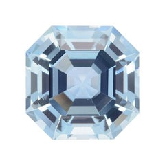 Aquamarine Ring Gem 7.48 Carat Unset Square Octagon Loose Gemstone