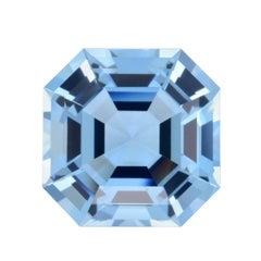 Aquamarine Ring Gem 9.96 Carat Square Octagon Loose Gemstone