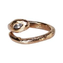 Aquamarine Ruby Snake Ring Victorian Style Bronze J Dauphin