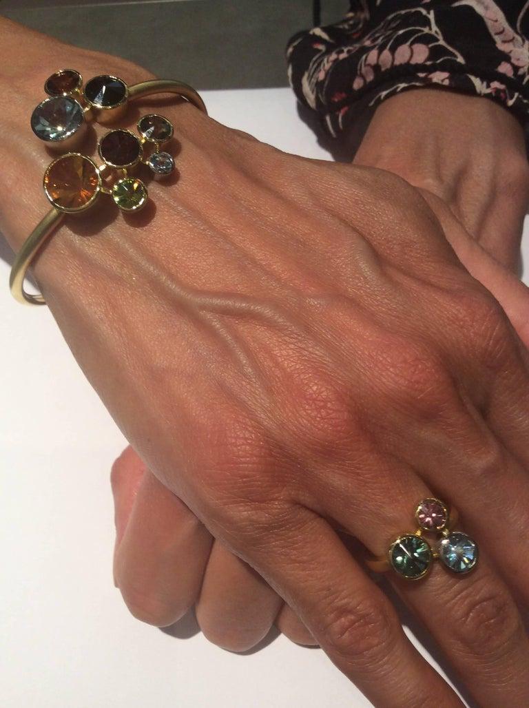 Aquamarine Tourmaline Gold Platinum Ring Atelier Munsteiner For Sale 1
