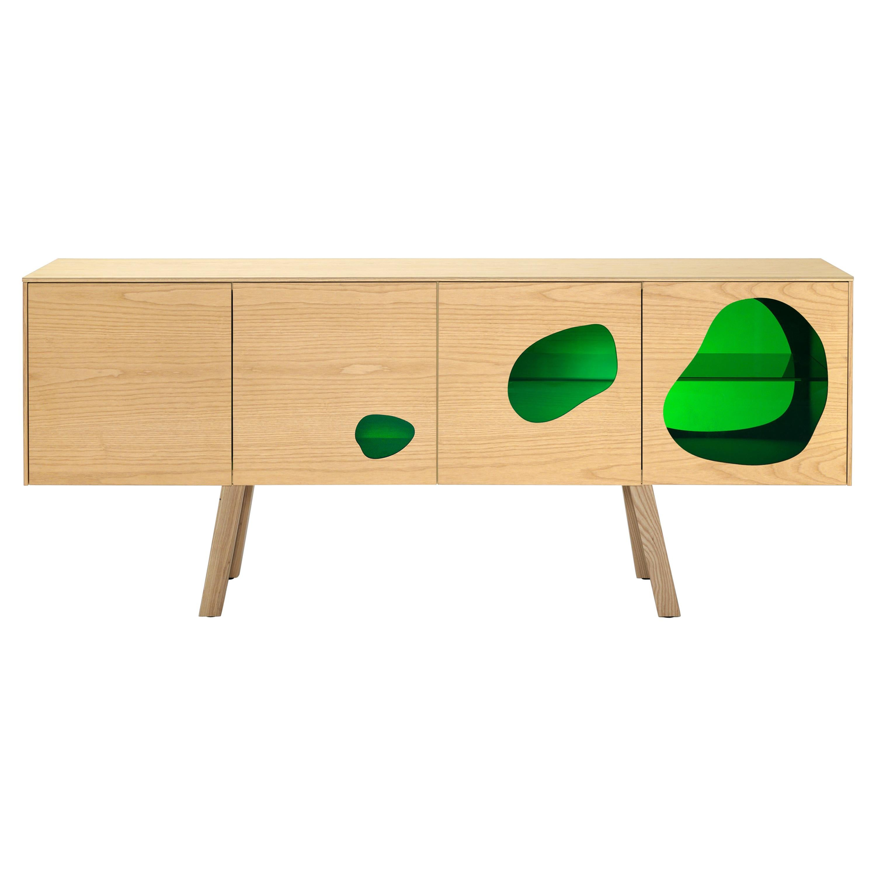 Cabinet in glass and wood by the Campana brothers. Prototype and unique piece.