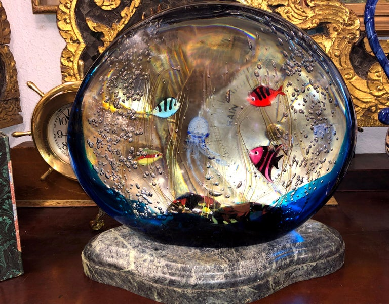 Italian Aquarium by Elio Raffaeli for Ars Murano For Sale