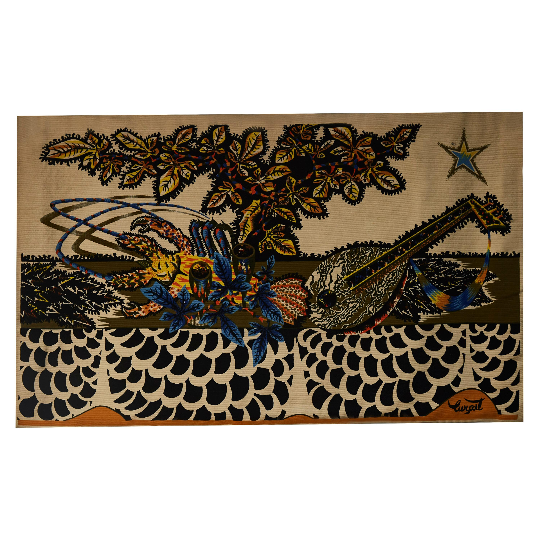 """Aquarium"" Tapestry Work by Jean Lurçat"