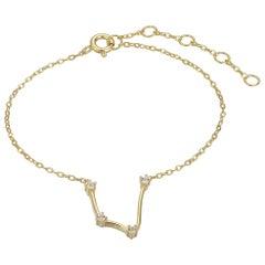 Aquarius Constellation Bracelet