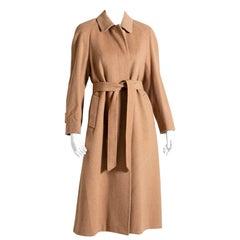 Aquascutum Coat Women's Coat 1990s Camel-Colored