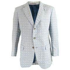 Aquascutum Mens 1960s Check Wool & Mohair Blazer