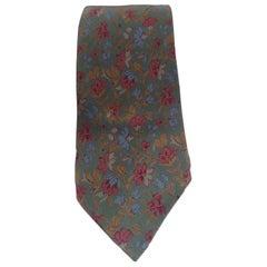 Aquascutum multicoloured silk tie