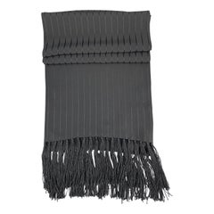 AQUASCUTUM Stripe Black Silk Scarves