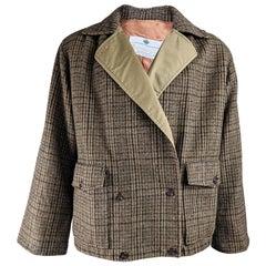 Aquascutum Vintage Mens Brown Tweed Jacket