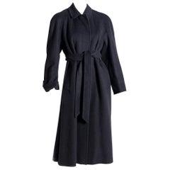 Aquascutum Women's Coat 1990s Black-Colored
