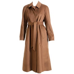 Aquascutum Women's Coat 1990s Brown-Colored