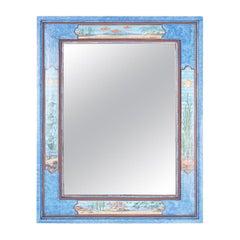 Aquatic Painted Mirror