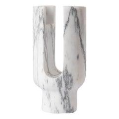 Aquatico Marble Lyra Candleholder by Dan Yeffet