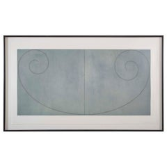 Aquatint by Robert Mangold Titled Curled Figures