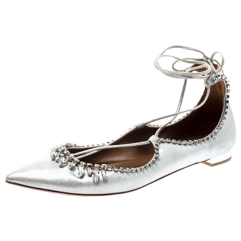 d814e43ead91b Aquazzura Paradise Pink Suede Tropicana Tasseled Beaded Ankle Wrap Sandals  39.5