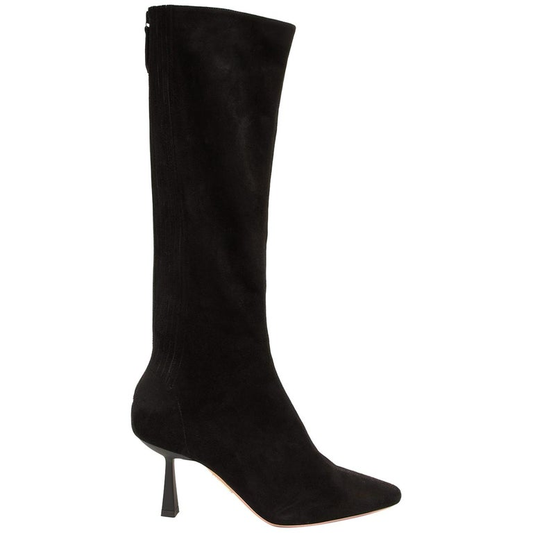 Aquazzura Curzon 75 Suede Boots For Sale