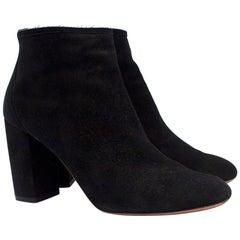Aquazzura Downtown Black Suede Ankle Boots SIZE 38