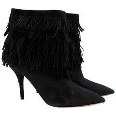 Aquazzura 'Sasha' suede fringed ankle boots - Size EU 36