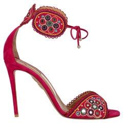 Aquazzura Woman Sandals Multicolor Leather IT 39