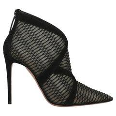 Aquazzura Women  Ankle boots Black Leather IT 39
