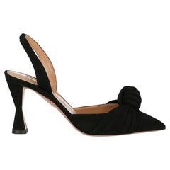 Aquazzura  Women   Sandals  Black Leather EU 36