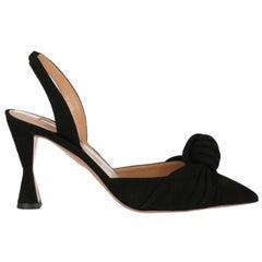 Aquazzura  Women   Sandals  Black Leather EU 37