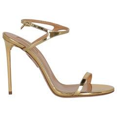 Aquazzura  Women   Sandals  Gold Leather EU 37.5