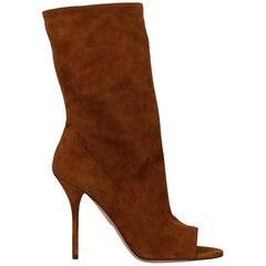 Aquazzurra Woman Ankle boots Camel Color EU 37