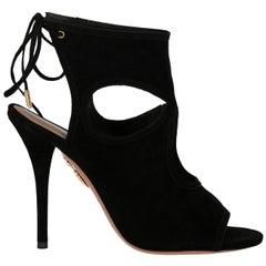 Aquazzurra Woman Sandals Black EU 37