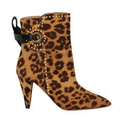 Aquazzurra Women's Ankle Boots Multicolor Leather Size IT 37